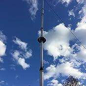Hustler Six Band Vertical HF Antenna 10-80m 24/' 1kW for Ham Radio 6BTV 6-BTV