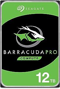 Seagate BarraCuda Pro Performance Internal Hard Drive SATA HDD 12TB 6GB/s 256MB Cache 3.5-Inch (ST12000DM0007)