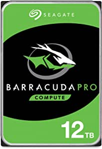 Seagate BarraCuda Pro 12TB Internal Hard Drive Performance HDD – 3.5 Inch SATA 6 Gb/s 7200 RPM 256MB Cache for Computer Desktop PC Laptop, Data Recovery – Frustration Free Packaging (ST12000DM0007)