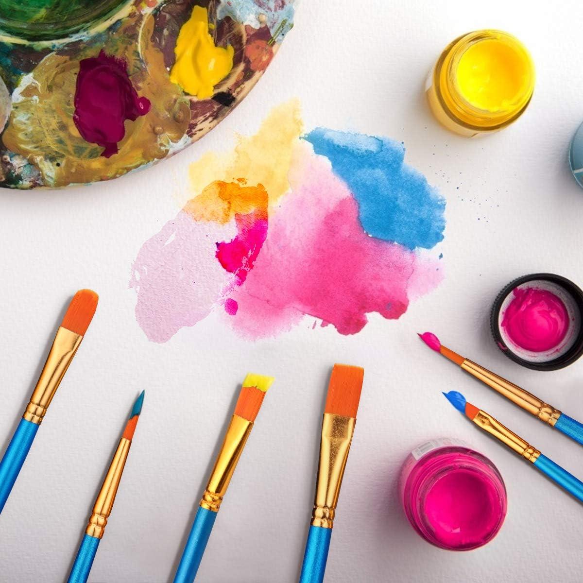30 Pz Pennelli Dipingere Pennelli Pittura Nylon Set per Principianti Bambini Artisti Moonlisa Nylon Artista Pennello Amanti della Pittura Olio e Modello Viso Painting Arte