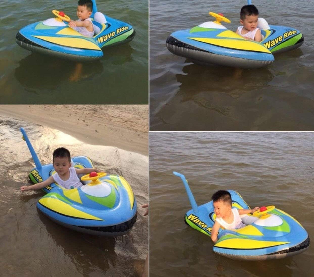 qicaibei Inflatable Airplan Motoboat Baby Kids tolddler swimming float seat raft tube ring pool toy Mvproducts