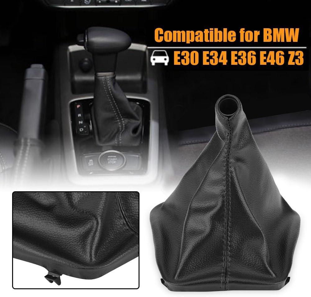 Car Shift Knob Cover Acouto Manuel Car Gear Stick Shift Knob Gaiter Knob Boot Cover for BMW E30 E34 E36 E46 Z3