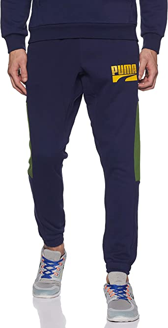 PUMA Rebel Block Cl FL - Pantalones de chándal Hombre: Amazon.es ...