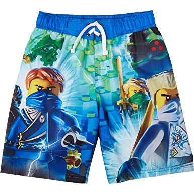 b445b94ed2 Image Unavailable. Image not available for. Color: Lego Ninjago Little Boy  Swim Trunk ...