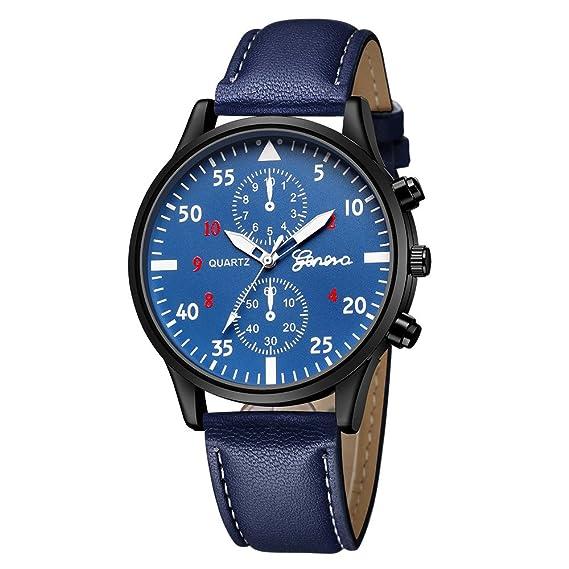 JiaMeng Relojes Pulsera Hombres, Reloj del Cuarzo de la aleación Militar de Cuero de los