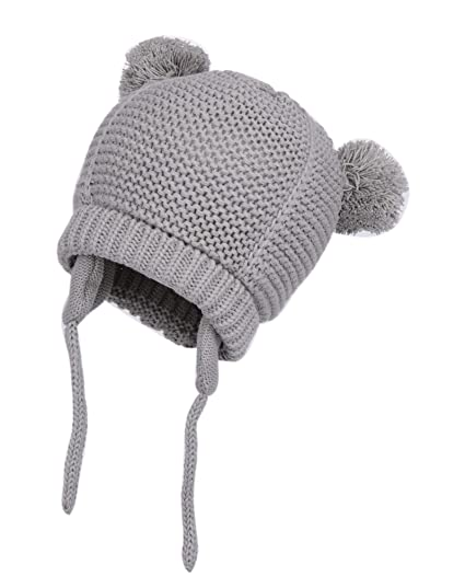 80748af7 Lanzom Baby Boy Girl Warm Fall Winter Hat Cute Bear Toddler Earflap Beanie  Hat (Style