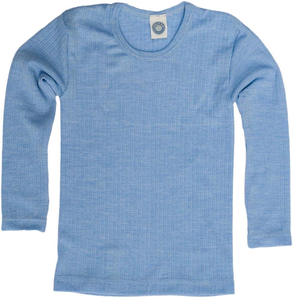 35/% lana ecologica qualit/à speciale 45/% cotone ecologico Cosilana Maglia per bambini di Wollbody/® 20/% seta