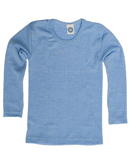 725e3e2201b0 Cosilana, Kinder Unterhemd Langarm, 45% kbA Baumwolle, 35% kbT Wolle, 20%  Seide