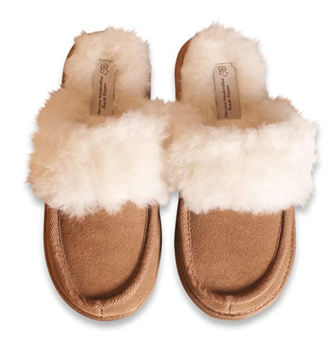 Nordvek Ladies Genuine Suede Sheepskin Wool & Man-Made Mix Mule Slippers #  442-100: Amazon.co.uk: Shoes & Bags