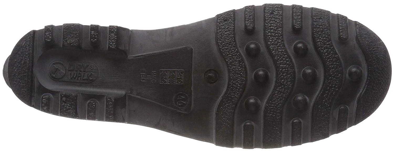 1243 Moderner Herren PVC Kurz schwarz mit schwarzer Sohle Peter Stiefel