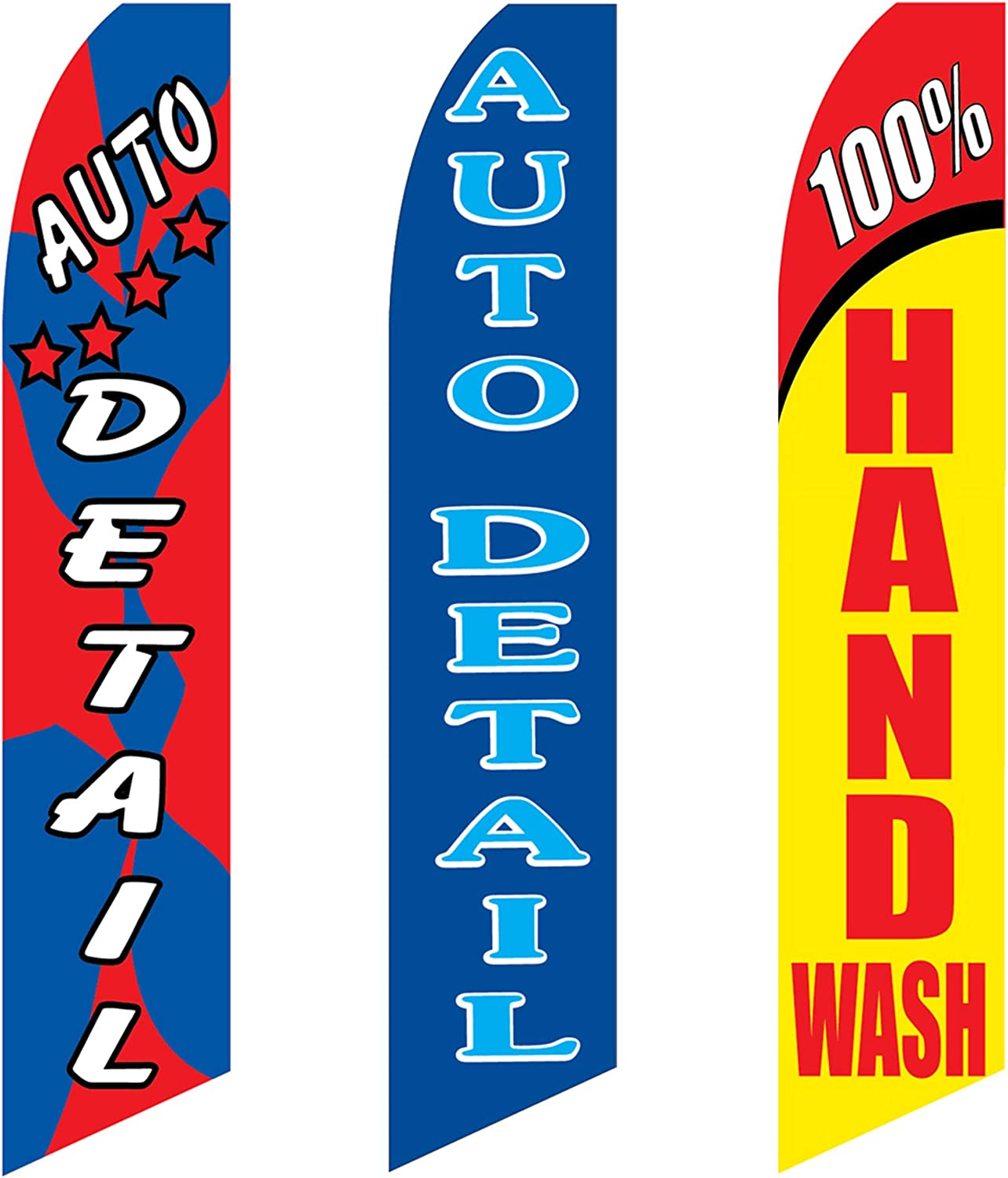 Full Sleeve Tall//Feather//Banner//Store//Business Flag by The Flag Shop Car Wash Swooper Windless