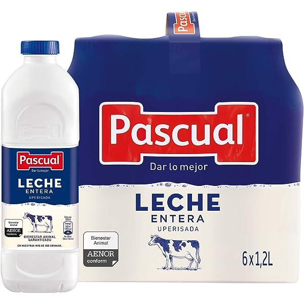 Pascual Leche Entera - Paquete de 6 x 1200 ml - Total: 7200 ml ...