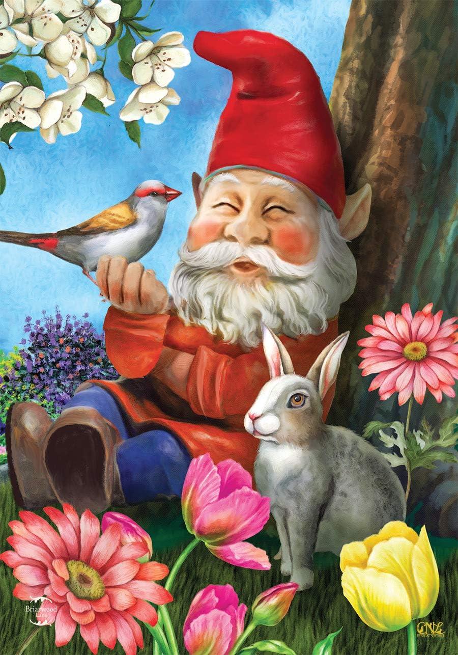 Briarwood Lane Garden Gnome Spring Garden Flag Floral 12.5