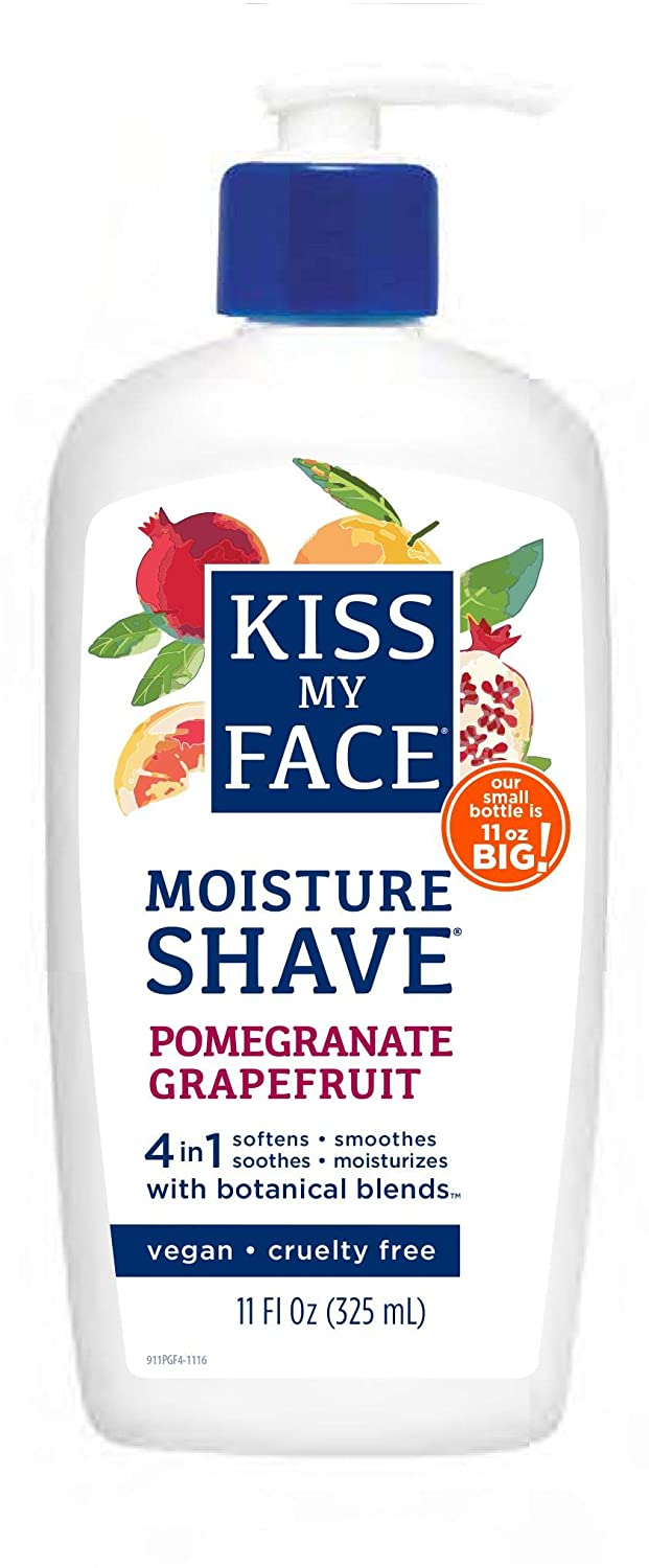 Kiss My Face Fragrance Free Moisture Shave, 325ml Pumps (Pack of 4)