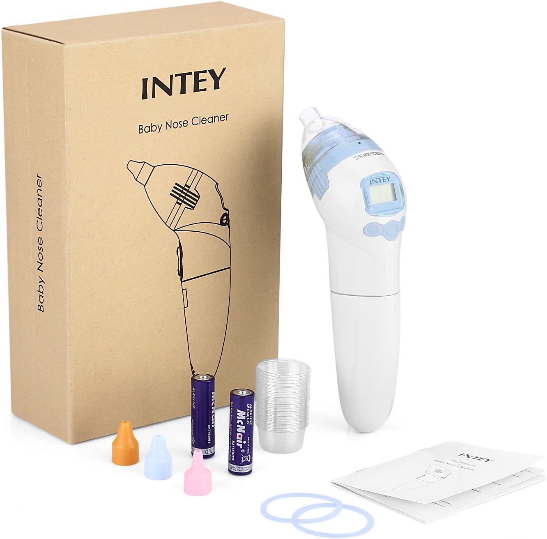 INTEY Aspirador Nasal Electrico 180*90mm ,Mini Aspirador de Nasal Del Bebé,Sacamocos Electrico Para limpiar Nasal Con La Música Más Seguro: Amazon.es: Bebé