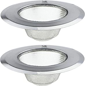 BIGSUNNY Set of 2 Stainless Steel 304 Mesh Sink Strainer for Kitchen