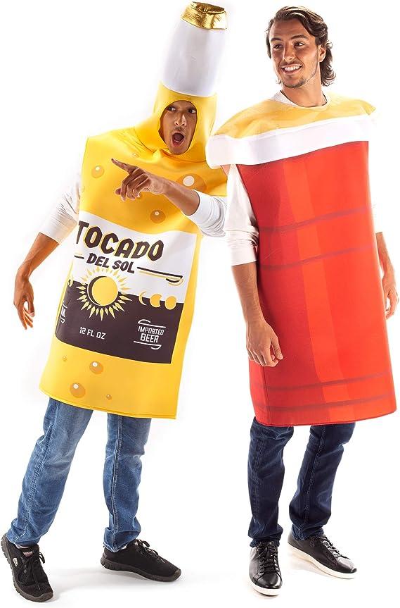 Beer & Red Cup Halloween Parejas Disfraces - Divertidos trajes de alcohol para adultos