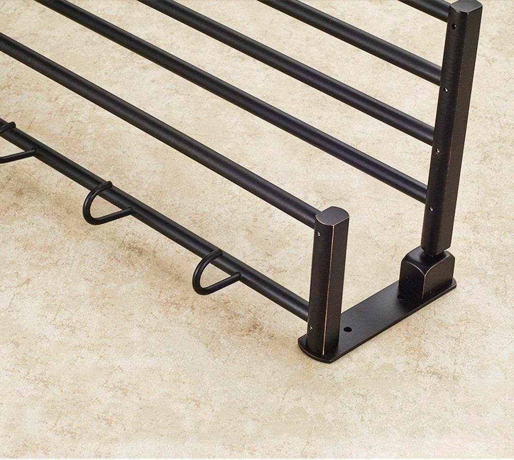 GRY Amerikanisches kupfernes Badezimmer-Zubehör, schwarzes schwarzes schwarzes Tuch-Regal Badezimmer-Lagerregal B07B3M8175 | Vielfalt  4694e5