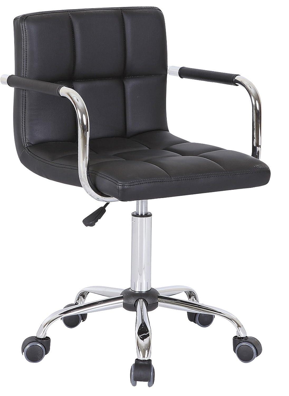PU Faux Leather Swivel Office Computer Executive Desk Wheels Chair Studio Salon