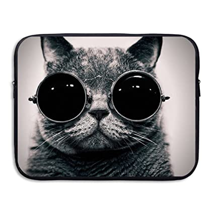 8edac40182ae Amazon.com: Laptop Sleeve, Funny Cat Sunglasses 13 Inch 15 Inch ...