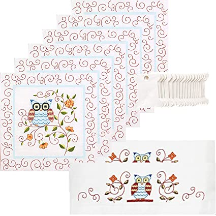 Amazon Janlynn Owl Stamped Embroidery Bundle 3 Items Quilt