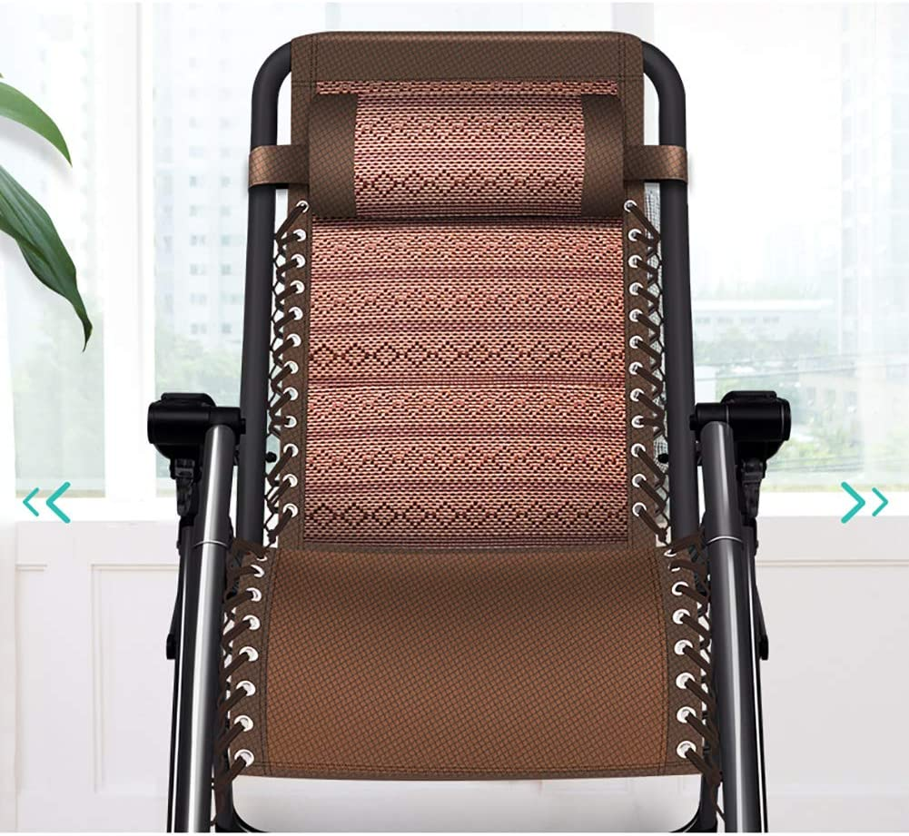 L&T Foldable Lounge Chair Portable,Folding Lounger Rattan Chair Stable,Compact Folding Chair Outdoor Camping Lunch Break Summer B