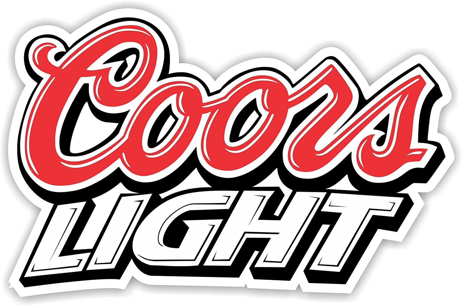 12/'/' or 14/'/' Coors Light Logo Car Bumper Sticker Decal 9/'/'