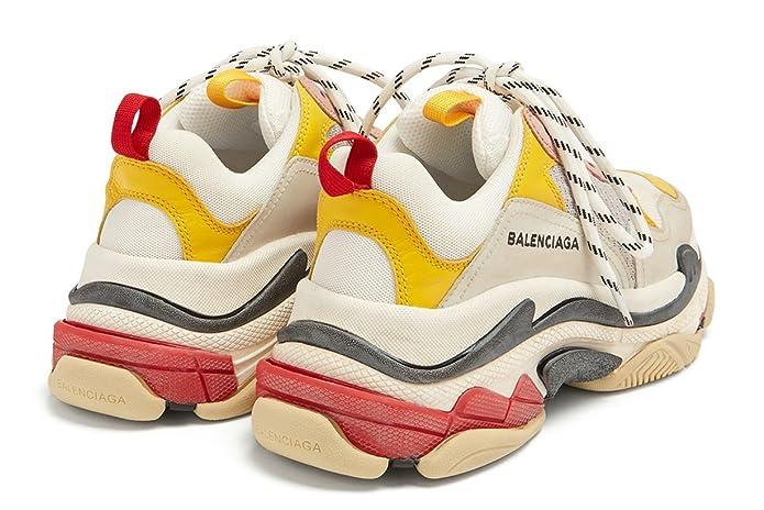 Balenciaga Triple S Sneakers Cream Yellow Red Unisex Hombre Mujer Balenciaga Zapatillas: Amazon.es: Zapatos y complementos