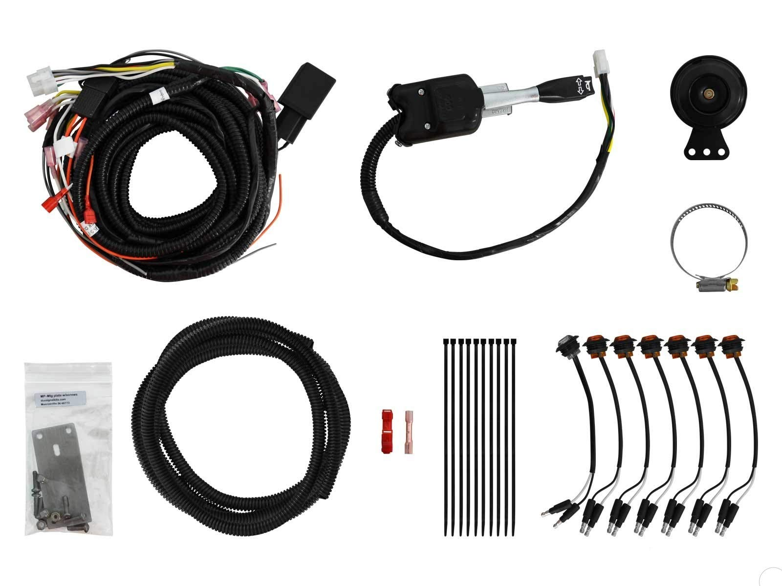 SuperATV Turn Signal Kit for Polaris Ranger XP 900 Crew (2014+) With Steering Column Switch and Attached Horn - Plug and Play For Easy Installation! by SuperATV.com