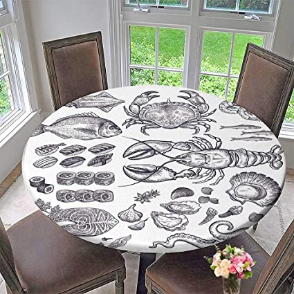amazon com pinafore home elasticized table cover seafood fish rh amazon com elasticized table covers rectangular elasticized table covers rectangular