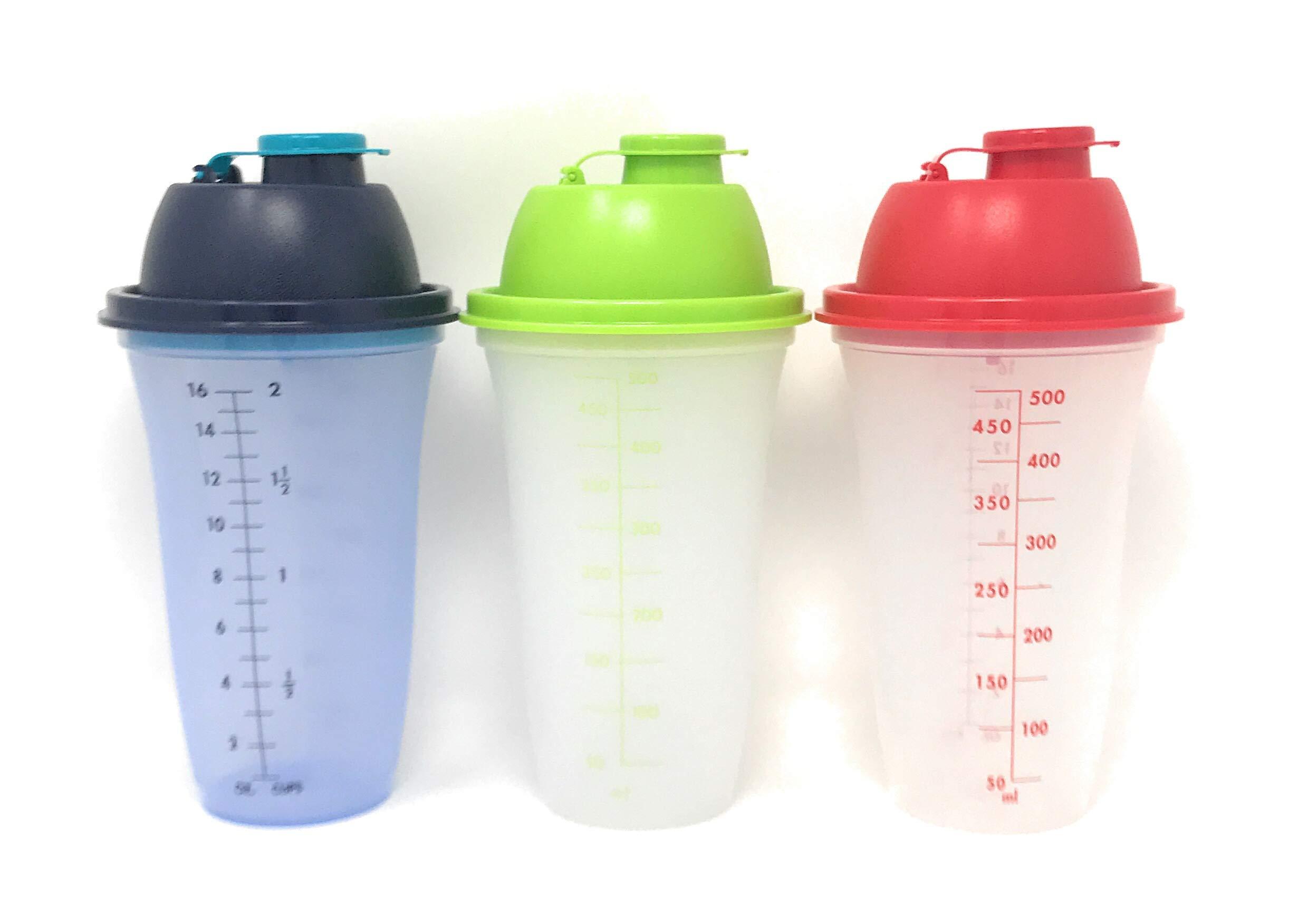 Tupperware Quick Shake Shaker Mixer Blender Colors Trio Set