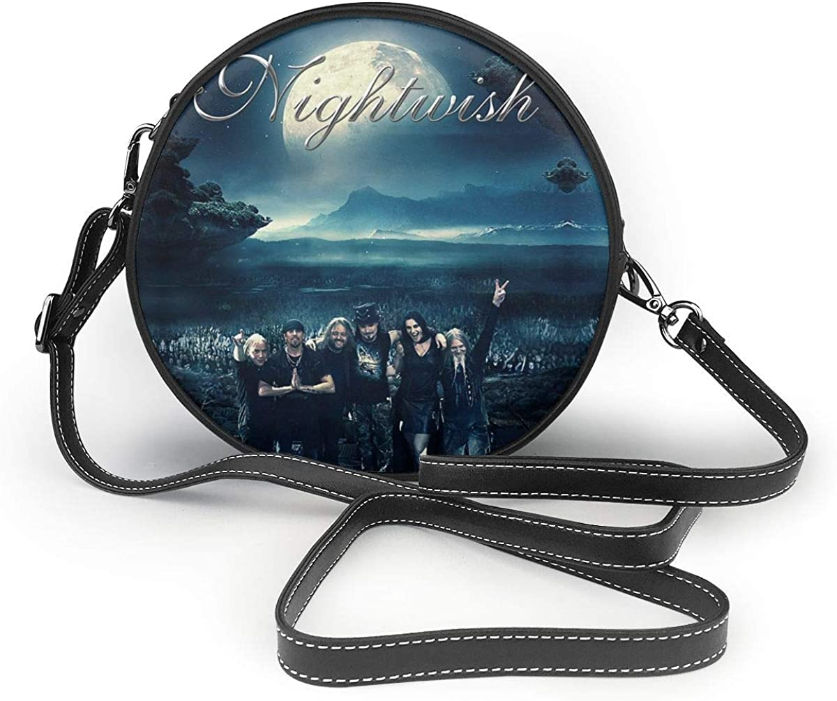 Nightwish Personalized Classic Round Shoulder Bag For Carrying Small Handbags