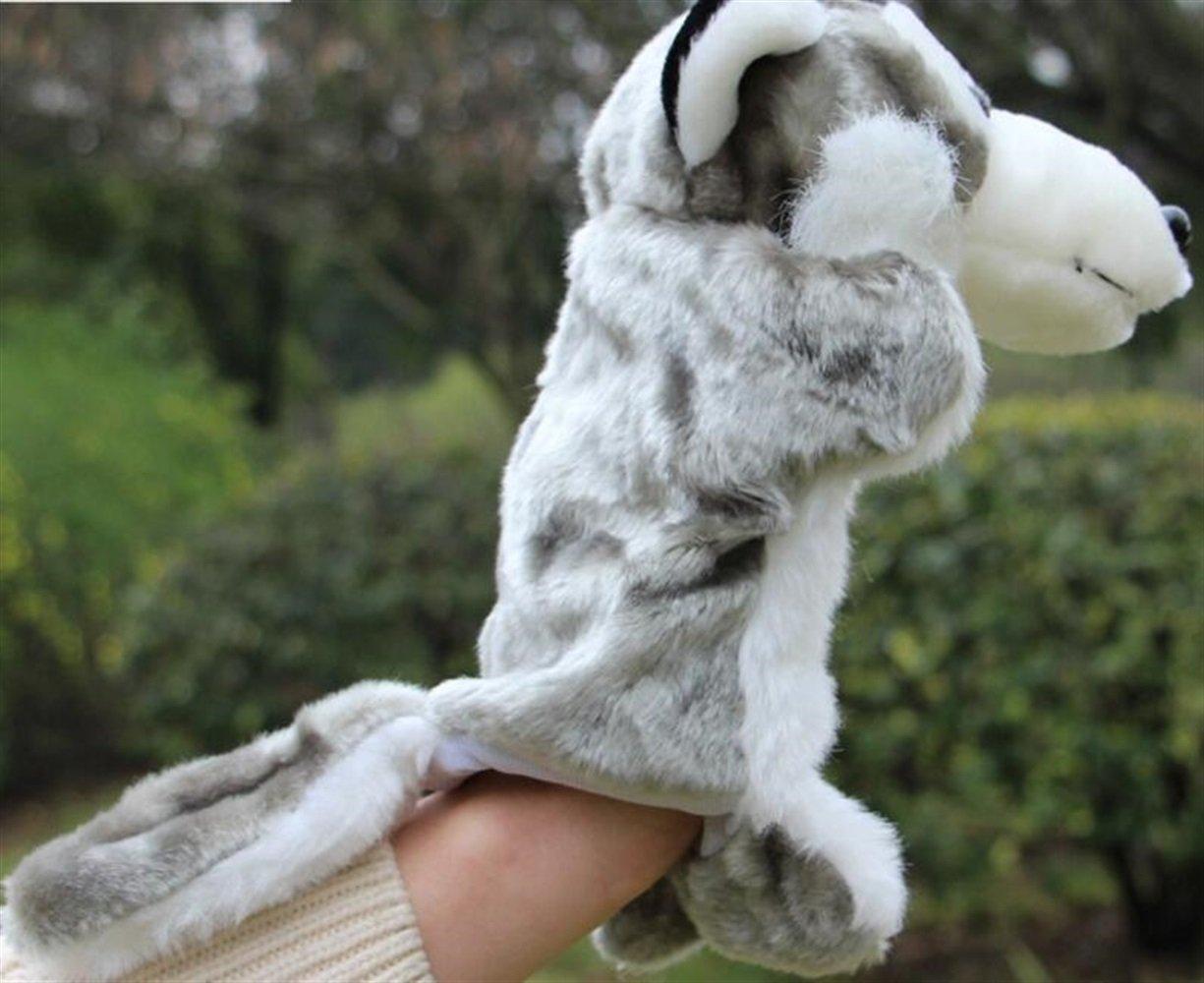 EoamIk Burattini Zoo Friends Hand Puppets Asilo Story Puntelli Wolf Hand Puppet (Grigio)