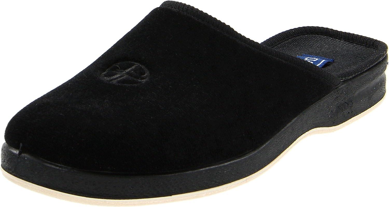 Foamtreads REGAL Mens Black Velour Slip On House Shoes Comfort Slippers