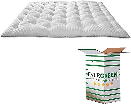 EvergreenWeb - Mejor Topper Colchón Matrimonial 180x200 en Espuma Viscoelástica de 8 cm de Altura