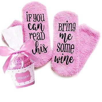 7edfe9e8cd8 Xpeciall Cadeau Vin Chaussettes quot Si vous pouvez lire CE Bring Me Some  Vin quot  Funny