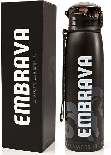 Embrava 40Oz Water Bottle Drink Gym Training Sport Bpa Free Leak Proof Spout