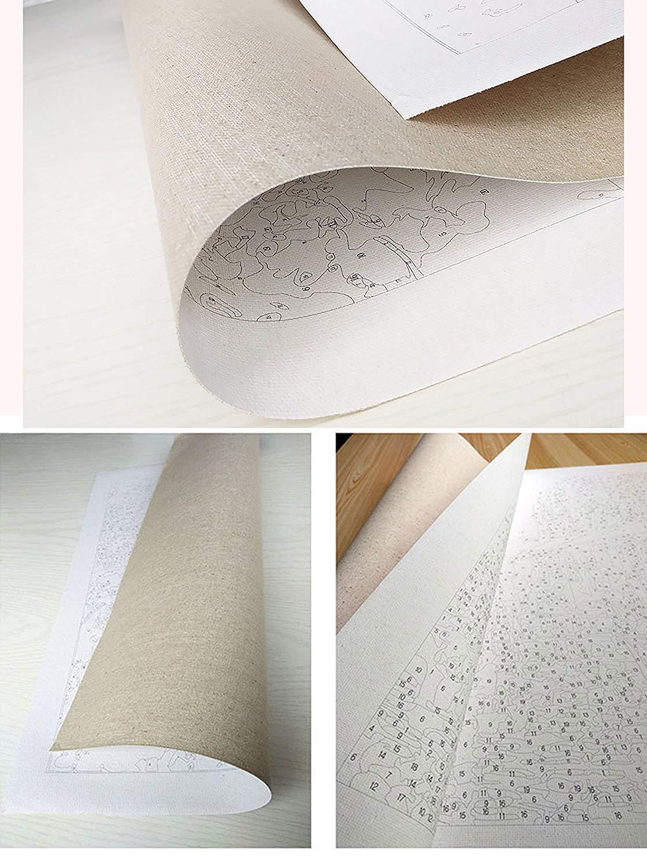 Malen nach Zahlen leinwand /Ölgem/älde nach Zahlen Handbemalt Wandbild f/ür Wohnzimmer Dekoration 40 x 50 cm. YOO SADA Malen Nach Zahlen Erwachsene