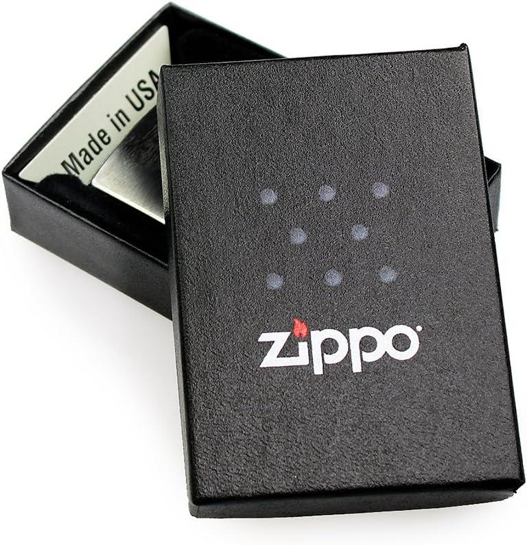3,5 x 5,5 x 1,2 cm Capitales Briquet Chrome Bross/é Briquet-Temp/ête Zippo Avec Gravure Cadeaux Vintage Personnalis/é avec Initiales Sans Essence