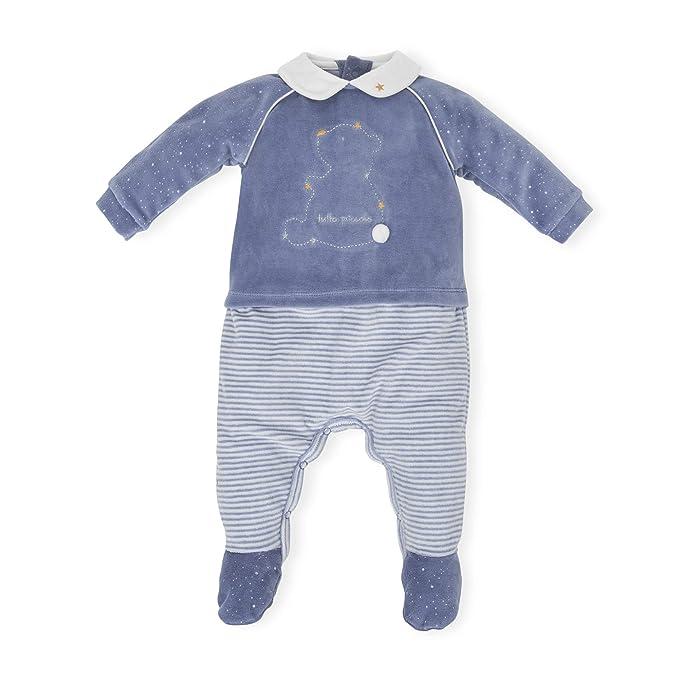 Tutto Piccolo Pelele para Bebé Oso Osito Manga Larga Niño Niña Invierno Algodón Tallas 0-24 Meses 5080W18, Color Azul