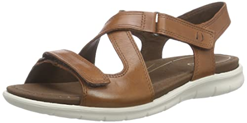 acdfc4245 Ecco Footwear Womens Babett Cross-Strap Sandal Mahogany 41 M EU   10-10.5  B(M) US  Buy Online at Low Prices in India - Amazon.in