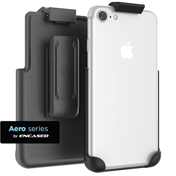 size 40 a982f 65ebe Encased case free iPhone 7 Belt Clip ClipMate² Non-Slip Rotating Holster -  for Apple iPhone 7 (Smooth Black)