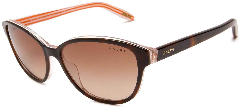 Ralph Lauren Purple Label Damen Sonnenbrille RA5128, Braun (Havana 977/13), One size (Herstellergröße: 55)