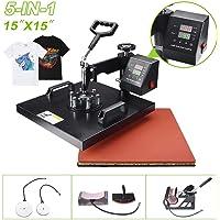 HAT//Cap MUP Swinger//Swing Away Heat Press Machine Transfer The Press 12X15 5IN1 for T-Shirts Beautysail Heat Press Esay to Heat-RED
