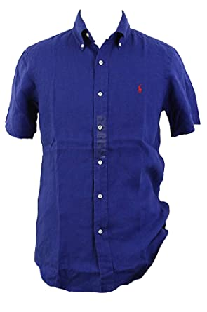 90777534e Polo Ralph Lauren Men's Linen Button Down Shirt at Amazon Men's Clothing  store: