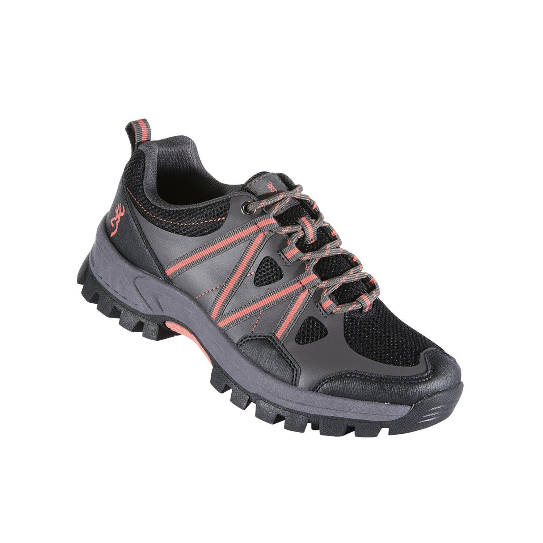 Brauning Glenwood Trail Damen Schuh – Schwarz/Koralle – Größe 11