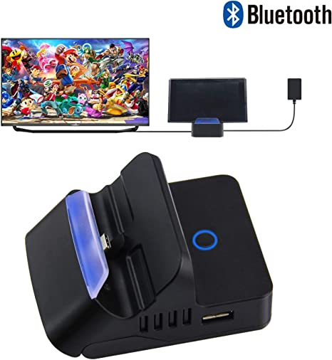 Base adaptador Bluetooth para Nintendo Switch, repuesto portátil Mini HDMI TV Base base para Nintendo Switch de carga con puerto USB 3.0 adicional: Amazon.es: Videojuegos