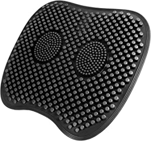 Seat Cushion for Office Chair - TBTeek Non-Slip Orthopedic Coxyx Cushion for Car Seat Wheelchair - Silicone Tailbone Relief Ergonomic Chair Pad for Lumbar Back Pain Sciatica Pressure Relief (Black)