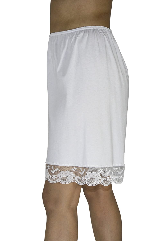 Underworks Pettipants Cotton Knit Culotte Slip Bloomers Split Skirt 9-inch Inseam