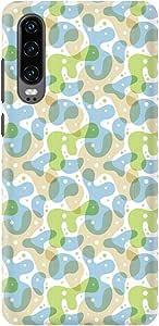 Stylizedd Huawei P30, Slim Snap Basic Case Cover Matte Finish - Floating Ameoba